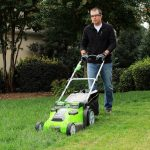 Electric lawn mower GreenWorks Key features