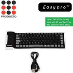 Easypro Silicone Rubber Waterproof Flexible & Foldable Bluetooth Keyboard For Lenovo K8 Plus, Laptop, PC,Android & Ios Devices