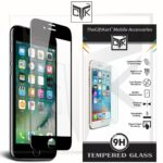 TheGiftkart Edge To Edge & Fully Curved On Edges Nippa Glue Excellent Adhesion Korean Real 3D Tempered Glass Screen Protector For Apple Iphone 7 (4.7 Inch) (Black)