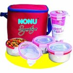 Lunch Box with 3 Leakproof Airtight Food Grade Stainless Steel Containers