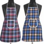 Yellow Weaves™ Check Design Waterproof Cotton Kitchen Aprons