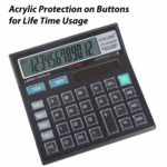 Basic Office Calculator with Large LCD Display and Acrylic Protected on Buttons