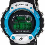 Sonata Digital Grey Dial Men's Watch