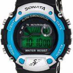 Sonata Digital Grey Dial Men's Watch