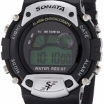 Sonata Super Fibre Digital Grey Dial Men's Watch