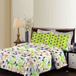 Bombay Dyeing Breeze Beautiful and Attractive Multicolor Graphics Design 140 TC Cotton Double bedsheet