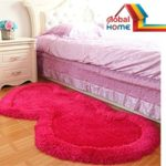 Global Homehand Loom Modern Stone 5D Shaggy Double Heart Rugs And Carpets