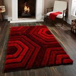 Global Home Polyester Blend 5D Shaggy Rugs for Living Room