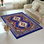 Home Elite Blue Colored Traditional Design Jute Filling Sheet Carpet
