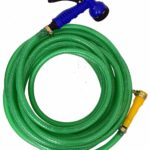 Dripit™ Braided Garden Hose Pipe (1/2″ Inch x 10 Meters) with 7-Pattern Rotating Nozzle Spray Gun