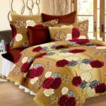 Story@Home 100% Cotton Bed Sheet for Double Bed with 2 Pillow Covers Set, Candy Queen Size Bedsheet