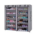 Orril 6 Layer & 2 Column 12 Shelf Shoe Organizer Cum Cloth Cabinet with 20 Year Warranty