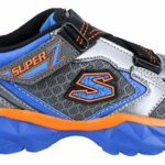 Skechers Boy's Hypersonic Blue and Lime Sports Shoes