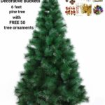 Decorative Buckets: CHRISTMAS TREE 6 FEET