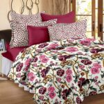 Story@Home Valentine Single Piece 200 GSM Cotton & Flannel Double Bed Reversible Comforter