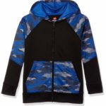 Hanes Boys' Big Tech Fleece Full-Zip Raglan Hoodie