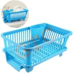 Gtc 3 In 1 Large Sink Set Dish Rack Drainer With Tray For Kitchen