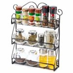 Craftland Wrought Iron 3-Tier Spice Rack Bottle Holder Storage Organizer