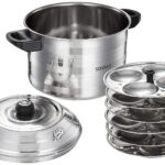 Idli Maker I Solimo Stainless Steel  I 6 Plates